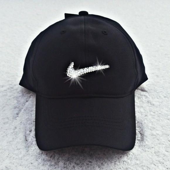 Swarovski Crystal Bling Nike Swoosh Golf Cap 59a497e325f7